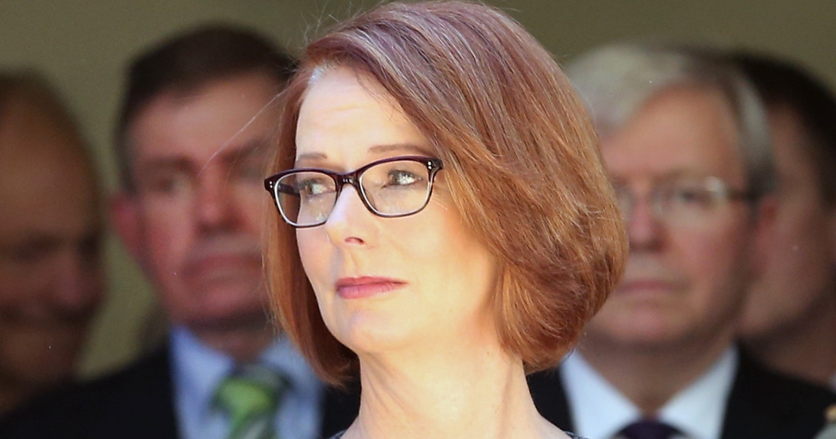 Prime Minister of Australia Julia Gillard in a photo taken on March 5, 2013 in Melbourne, Australia.</p>