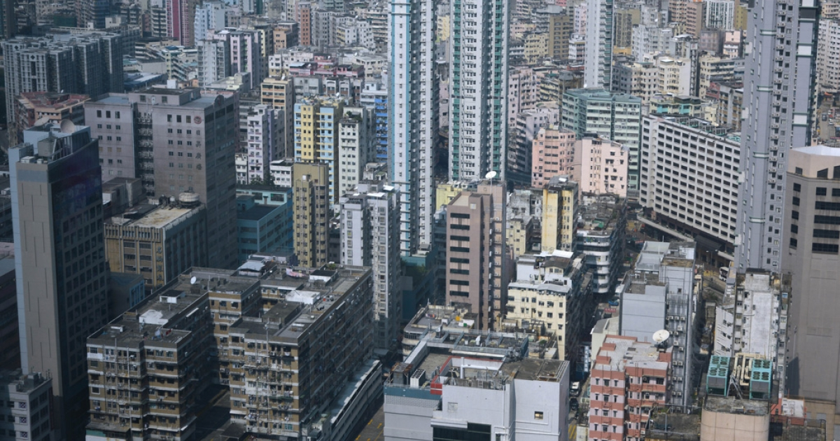 Residential and commercial property is pictured on the Kowloon peninsular in Hong Kong on November 2, 2012.</p>
