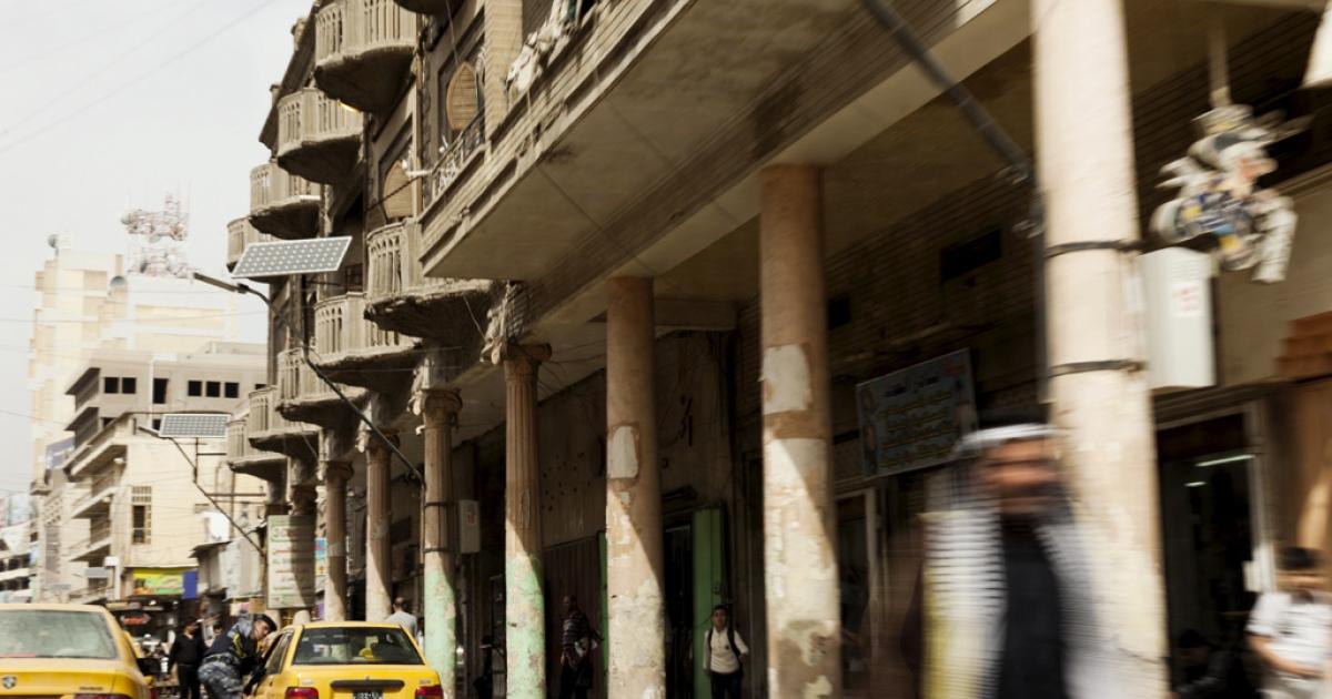 Al Rashid, a street in Baghdad.</p>