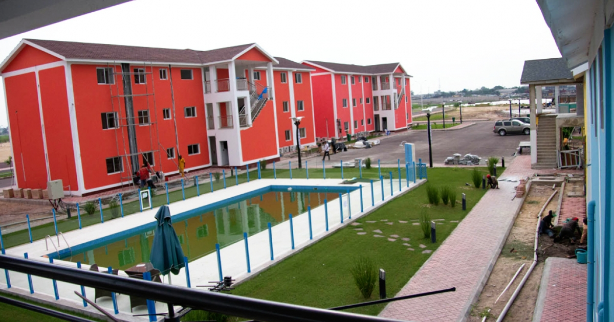 The City of the River development project in Kinshasa, Congo, will house members of Kinshasa's expanding upper class. The new development includes swimming pools, schools, grocery stores and a sports complex.</p>