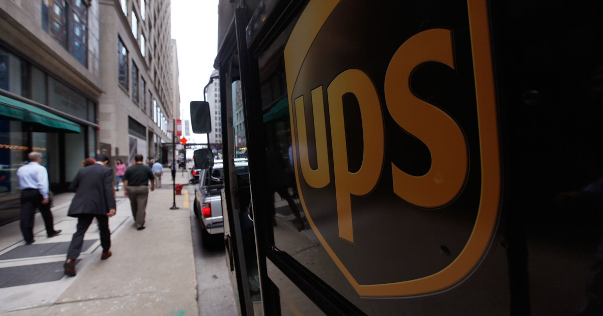 Shipping company UPS said Friday that it will halt deliveries from illegal online pharmacies as well as pay a $40 million fine.</p>