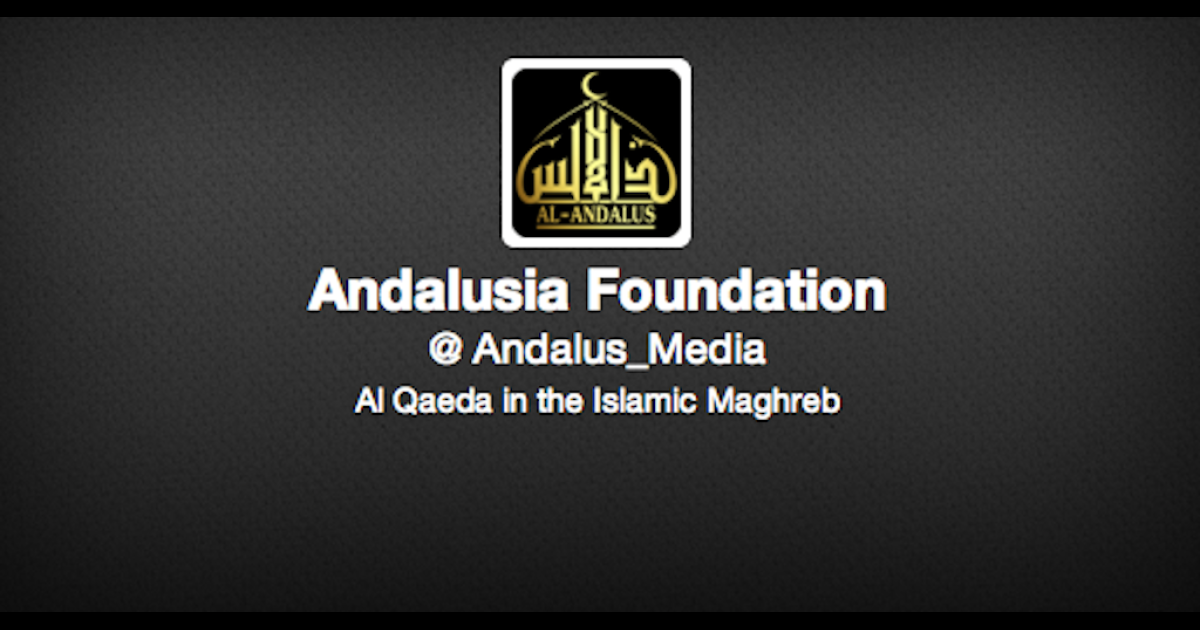 A screengrab of the Al-Andalus Media Foundation twitter account on March 29, 2013.</p>