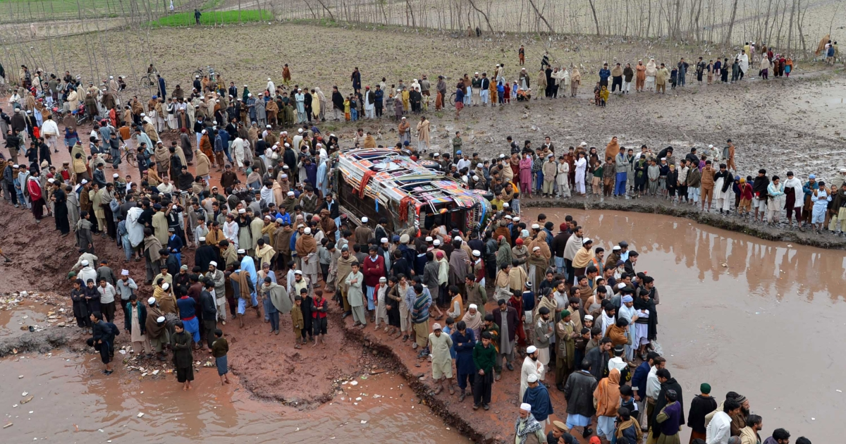 On February 23, 2013, a bus carrying a wedding party plunged into a canal in the northwestern city of Peshawar, killing 17 people, mostly women and children.</p>