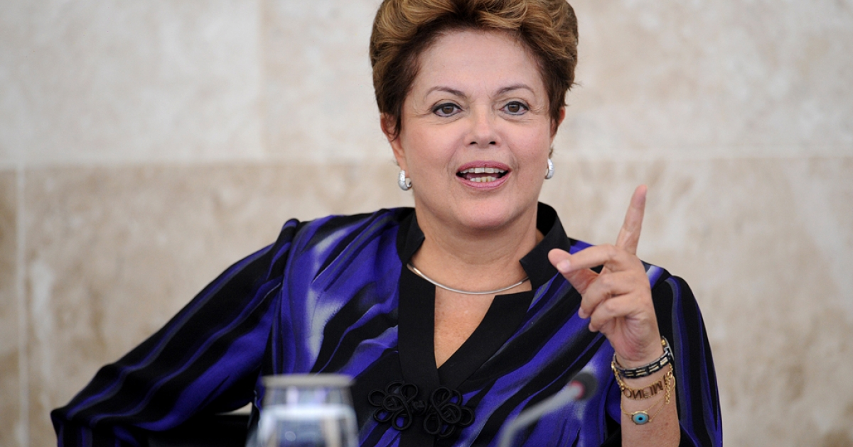 Brazilian President Dilma Rousseff takes part in the meeting of the Economic and Social Development Council, at Planalto Palace, in Brasilia, on Feb. 27, 2013. In 2011 Brazil unveiled its $20 billion Science Without Borders program, which aims to dish out 75,000 science and technology scholarships for Brazilians by 2014.</p>
