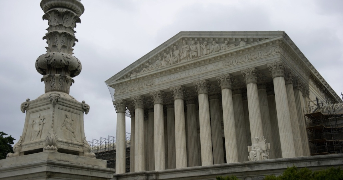 The US Supreme Court is seen in Washington, DC, June 18, 2012. The highest court in the US is set to consider a new affirmative action case from Michigan about the use of race in college admissions.</p>