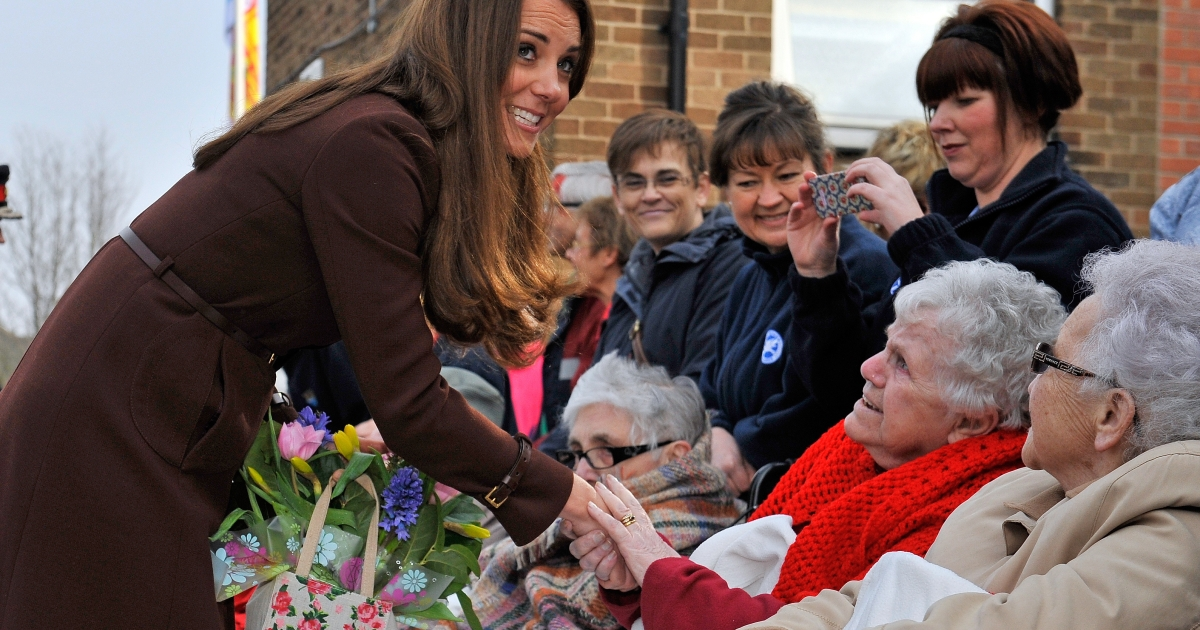 During an official engagement in Grimsby on March 5 2013 the Duchess of Cambridge told a well-wisher it would be a