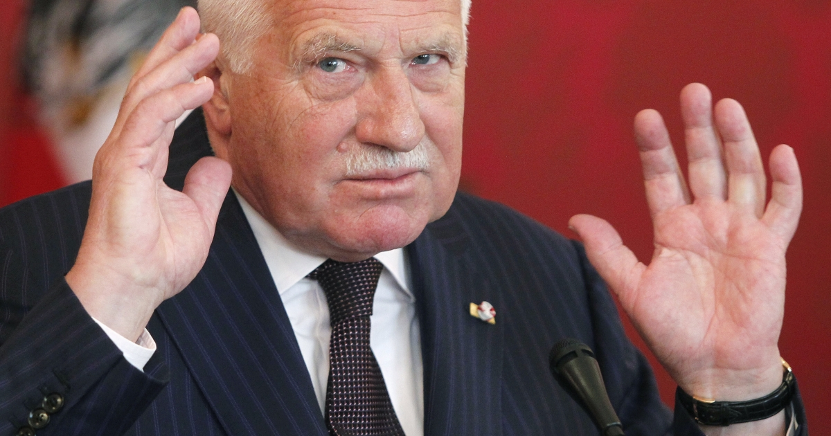 Down but not out: No one is ruling Vaclav Klaus out of politics in future.</p>