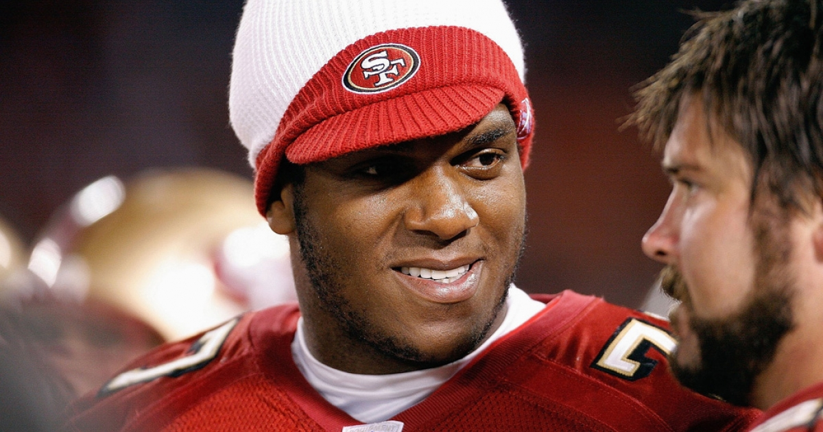 Kwame Harris, seen here during his playing days with the San Francisco 49ers in 2007, told CNN on March 29, 2013, that admitting he was gay while playing in the NFL was nearly impossible.</p>