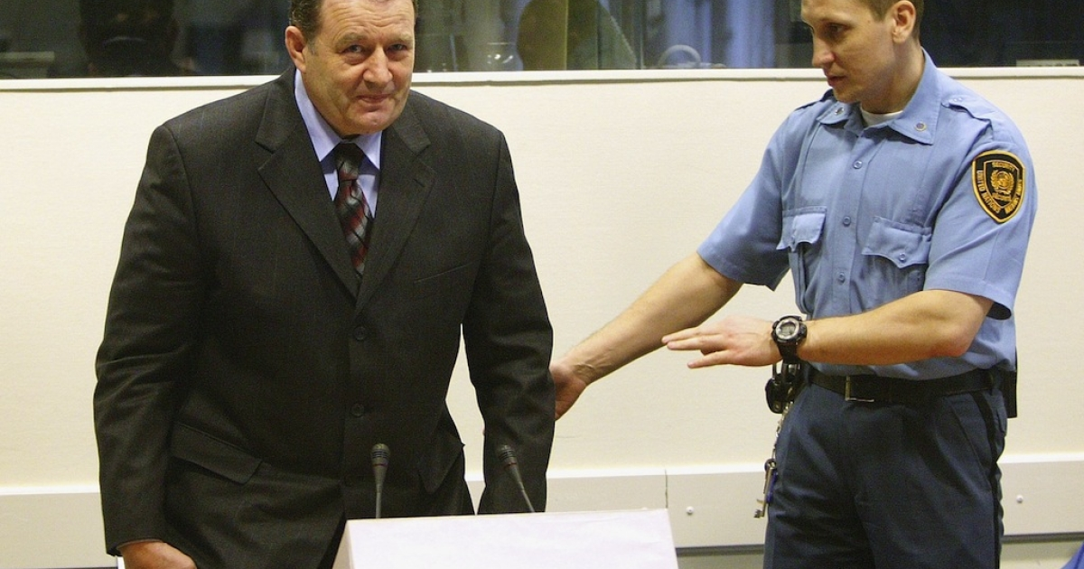 Mico Stanisic arrives for his initial appearance at the War Crimes Tribunal on March 17, 2005 in The Hague, the Netherlands. Stanisic faces charges of crimes against humanity for his alleged individual criminal responsibility for not taking action against the ethnic cleansing of Bosnian Muslims in 1992.</p>