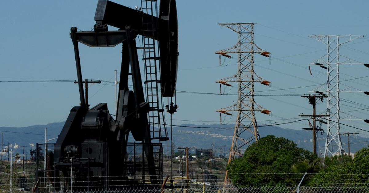 Oil pumps operate at an oilfield near central Los Angeles on February 02, 2011.</p>