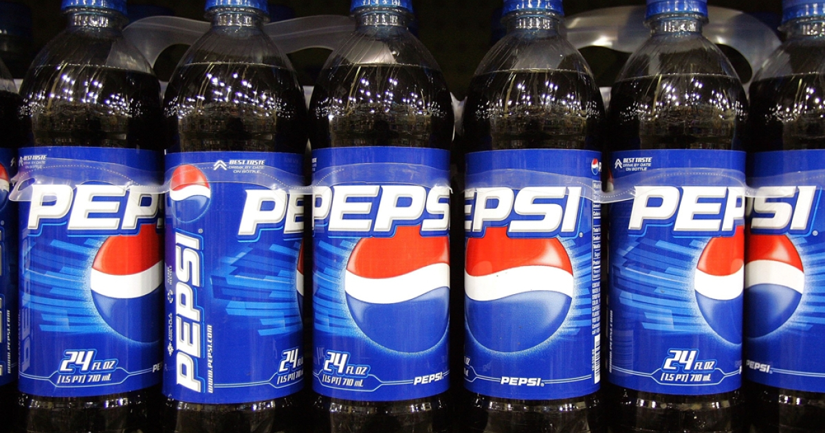 Plastic bottles of Pepsi are displayed on a store shelf on June 13, 2006, in Des Plaines, Ill. For years, Pepsi was the No. 1 soda in Thailand, but all that changed late last year when PepsiCo failed to renew a distribution contract.</p>
