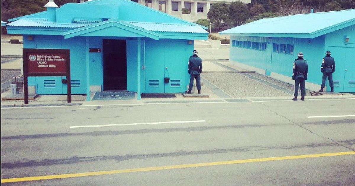 Looking at North Korea.</p>