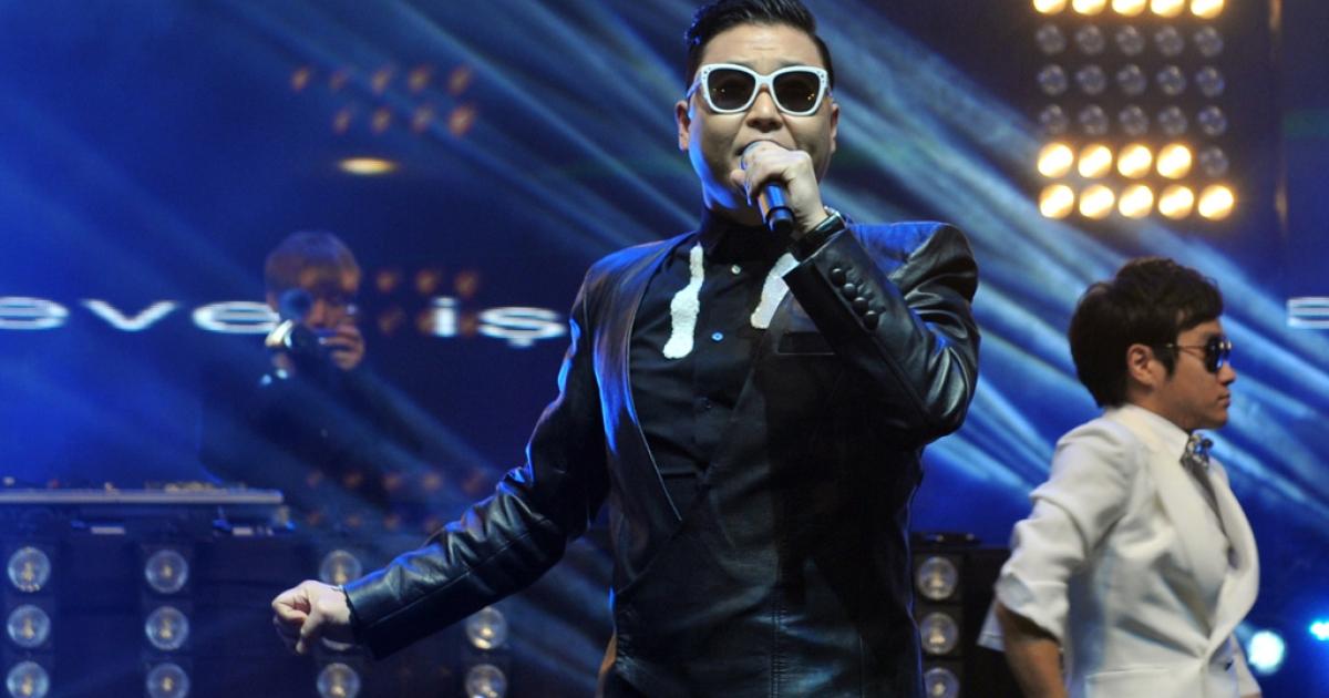 South Korean singer Psy performs