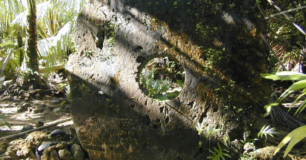 Stone money in Yap, Micronesia can weigh several tons and is usually never transported. Residents simply note who the new owner is.</p>