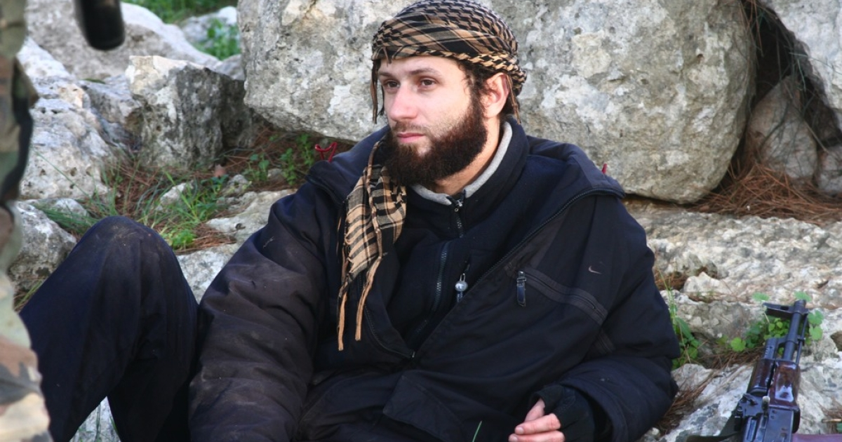 A photo taken in February of Ayachi Abdel Rahman, a brigade commander for Suquar al-Sham, an Islamist rebel group in Syria. Abdel Rahman is facing charges of terrorism in a Belgian court, but he says he is innocent. He is beloved among Syrians, who say he is helping to protect them from the government of President Bashar al-Assad.</p>