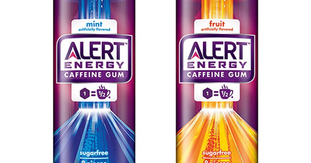Wrigley's Alert Energy Caffeinated Gum</p>
