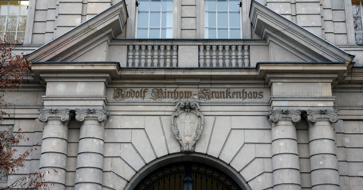 The entrance of the Virchow campus of the Charite, one Europe's largest university hospitals, is pictured on December 20, 2012 in Berlin. The hospital is currently investigating whether