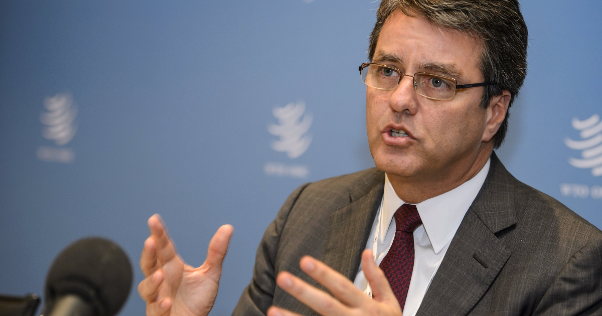 Brazil's Roberto Azevedo wins the leadership of the World Trade Organization, the Brazilian government announced. Azevedo, currently Brazil's ambassador to the 159-nation WTO, won out over the former Mexican trade chief Herminio Blanco.</p>