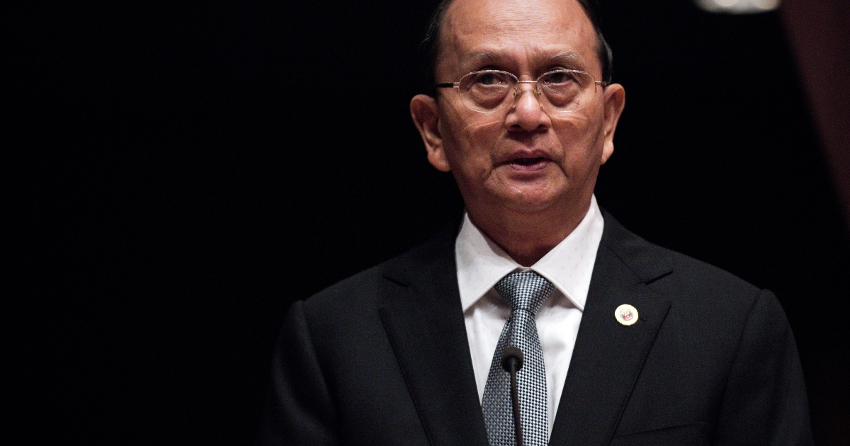 Myanmar state media said Monday that President Thein Sein will make a historic visit to the US this month. He will be the first Myanmar leader to visit since 1966.</p>