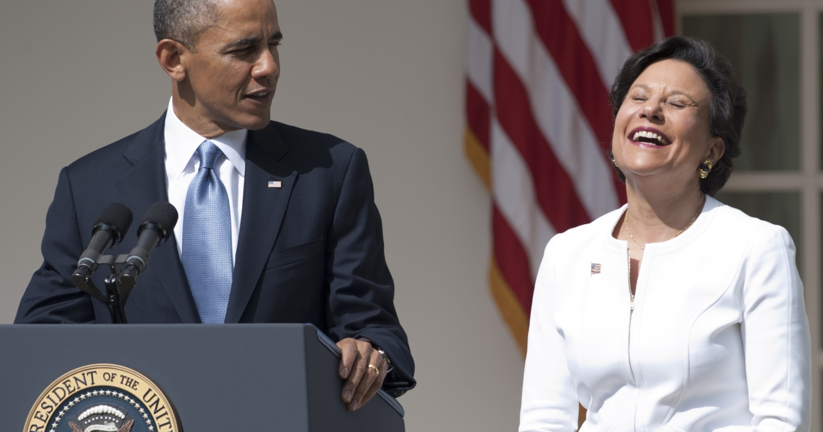 Penny Pritzker, billionaire heiress to Hyatt Hotels, was nominated by President Obama for Commerce secretary in a ceremony in the White House Rose Garden Thursday morning.</p>