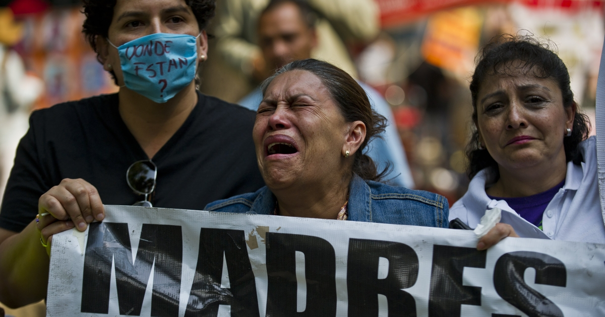 Mothers in Mexico City are outraged in a protest on Mother's Day demanding the government help find their disappeared children.</p>
