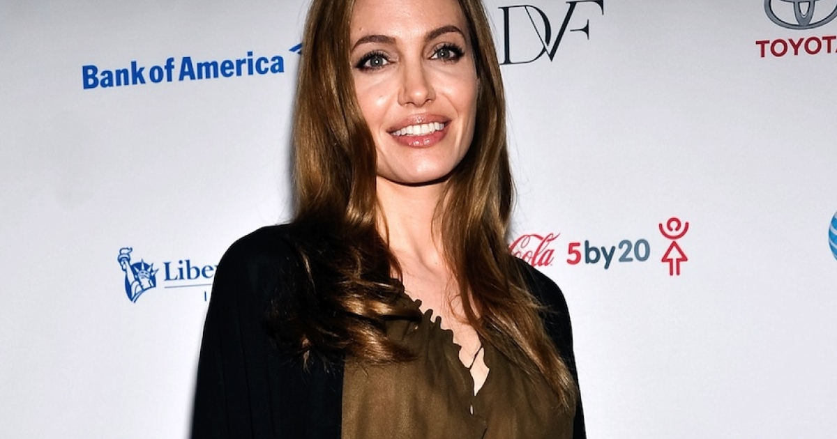 Angelina Jolie attends the Women in the World Summit 2013 on April 4, 2013 in New York, United States around the time she said she underwent treatment for a double mastectomy.</p>