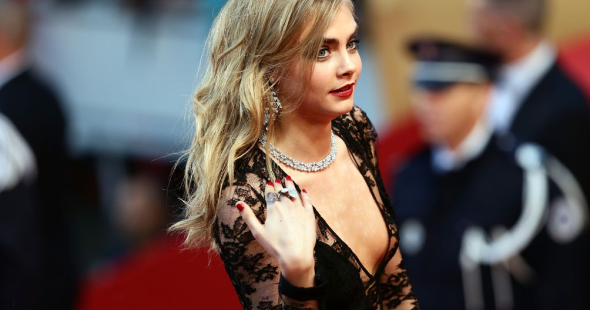 Cara Delevingne attends The Great Gatsby premiere during the 66th annual Cannes Film Festival at the Theatre Lumiere on May 15, 2013 in France. More than $1-million worth of Chopard jewlery, seen here on Delevingne, went missing after a brazen overnight heist from a Cannes hotel on May 17, 2013.</p>
