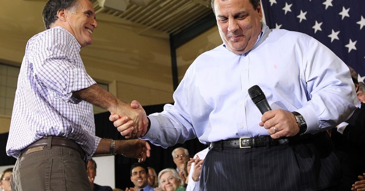 New Jersey Governor Chris Christie secretly underwent lap-band stomach surgery to slim down for the sake of his wife and children.</p>