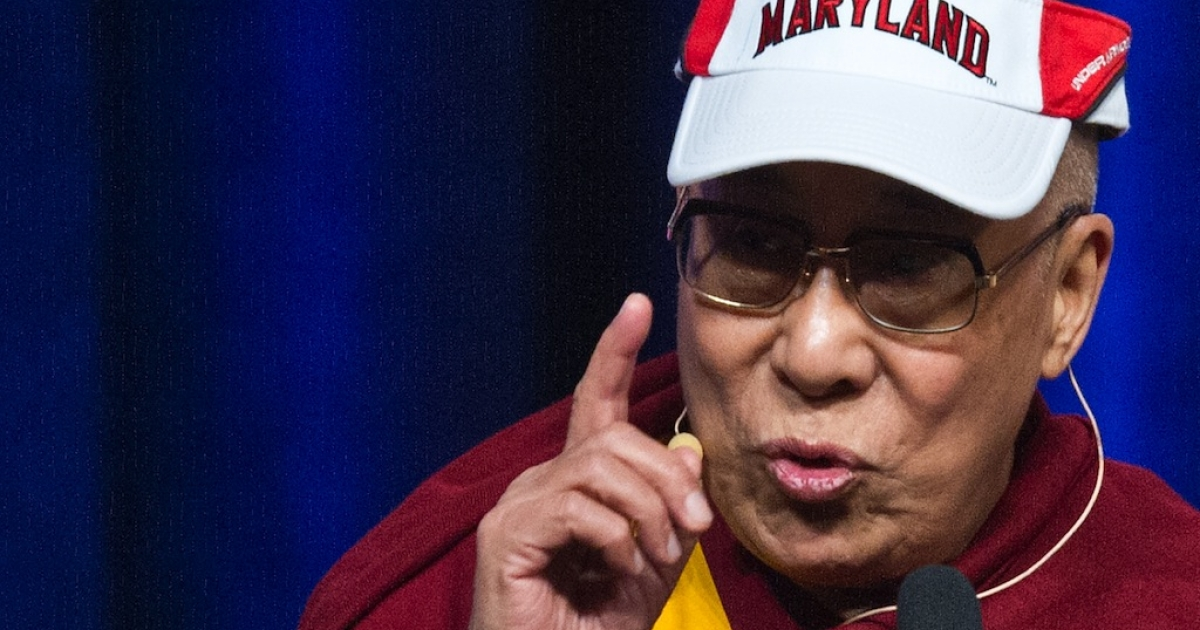 Tibetan spiritual leader the Dalai Lama delivers the Sadat Lecture for Peace, entitled 'Peace Through Compassion: Connecting a Multi-Faith World,' at the University of Maryland in College Park, on May 7, 2013.</p>