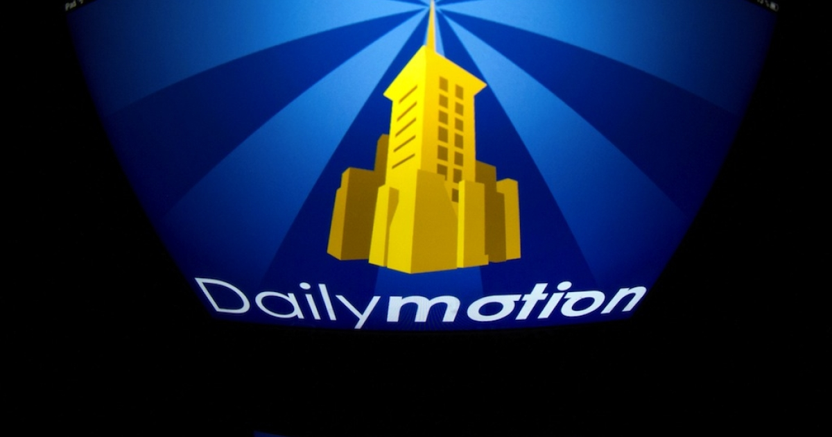 This picture shows the logo of French video-sharing website Dailymotion.</p>