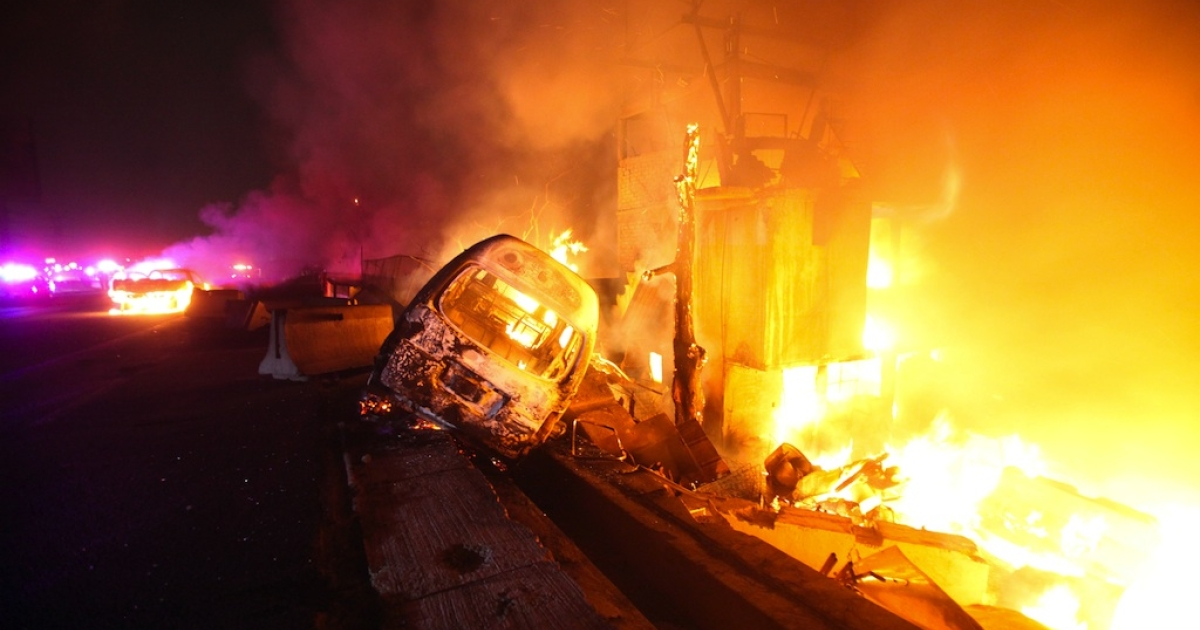 A gas tanker exploded into a ball of flames in a suburb of Mexico City on May 7, 2013, killing at least 19 people and injuring three dozen others. Vehicles and houses near the scene of the accident also caught fire.</p>
