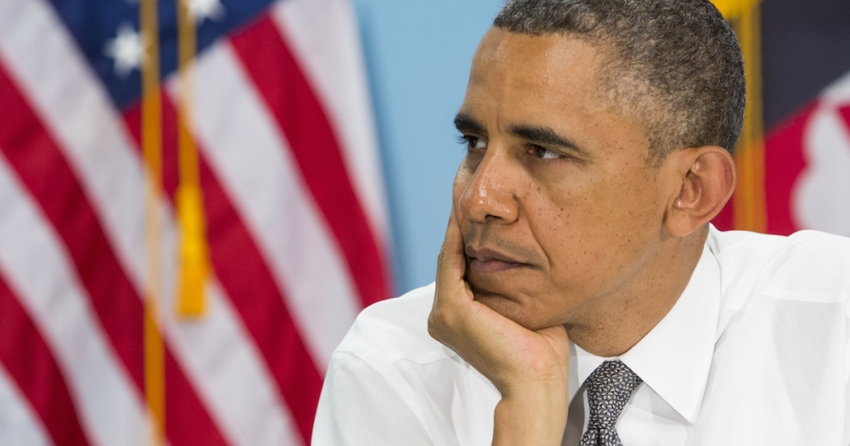 Cheer up, Obama. Your approval rating can only go up from here. Right?</p>