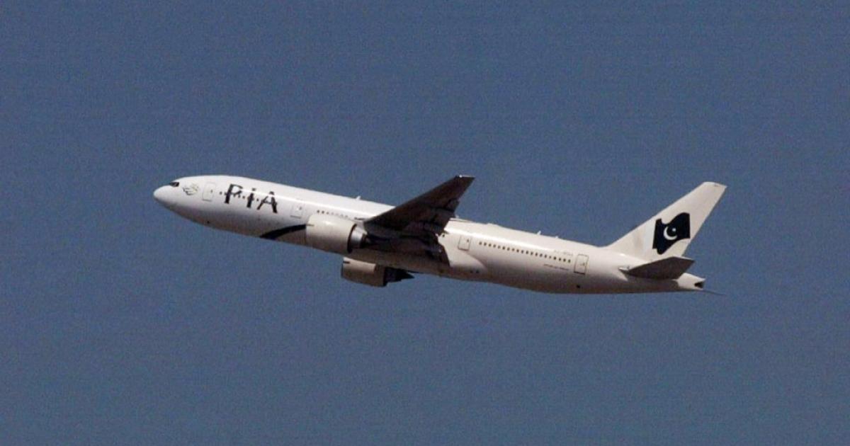 A Pakistan International Airlines plane</p>