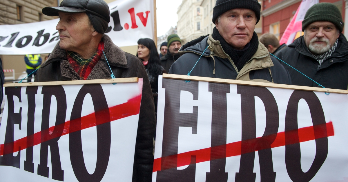 Most Latvians are against adopting the euro despite their government's plans.</p>