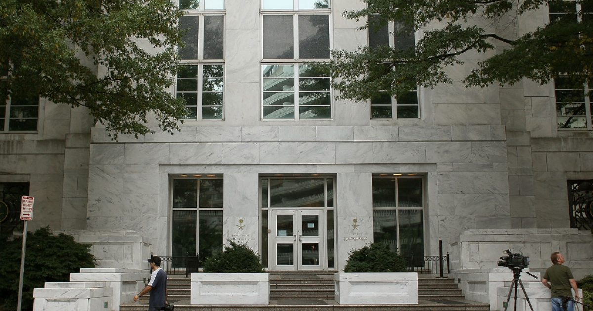 The Saudi embassy is shown on Oct. 11, 2011 in Washington, DC.</p>