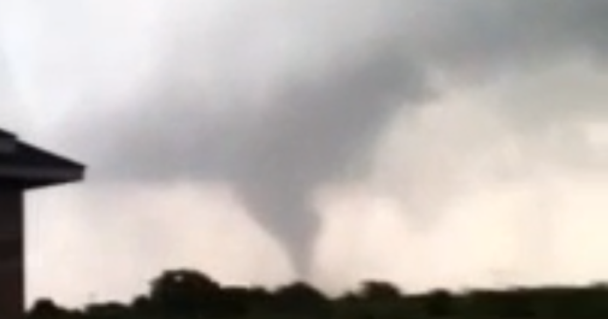 Footage uploaded on YouTube shows tornadoes forming over Texas.</p>