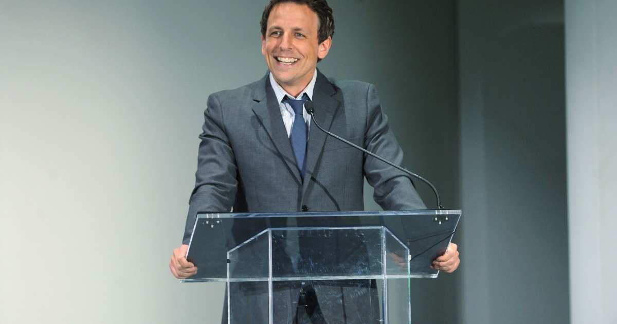 Seth Meyers attends the Hulu NY Upfront event on April 30, 2013, in New York City.</p>