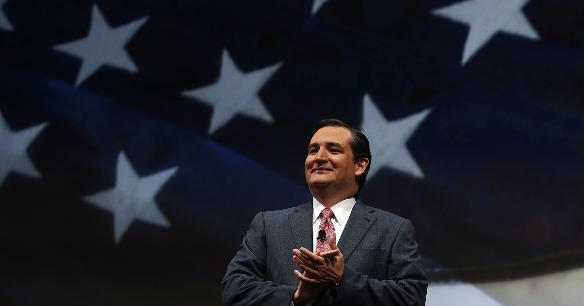 Sen. Ted Cruz (R-TX) speaks during the 2013 NRA Leadership Forum at the George R. Brown Convention Center on May 3, 2013 in Houston.</p>