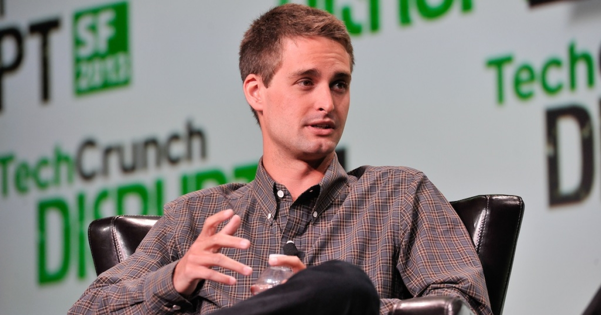Evan Spiegel of Snapchat attends TechCruch Disrupt SF 2013 at San Francisco Design Center on September 9, 2013 in San Francisco, California.</p>