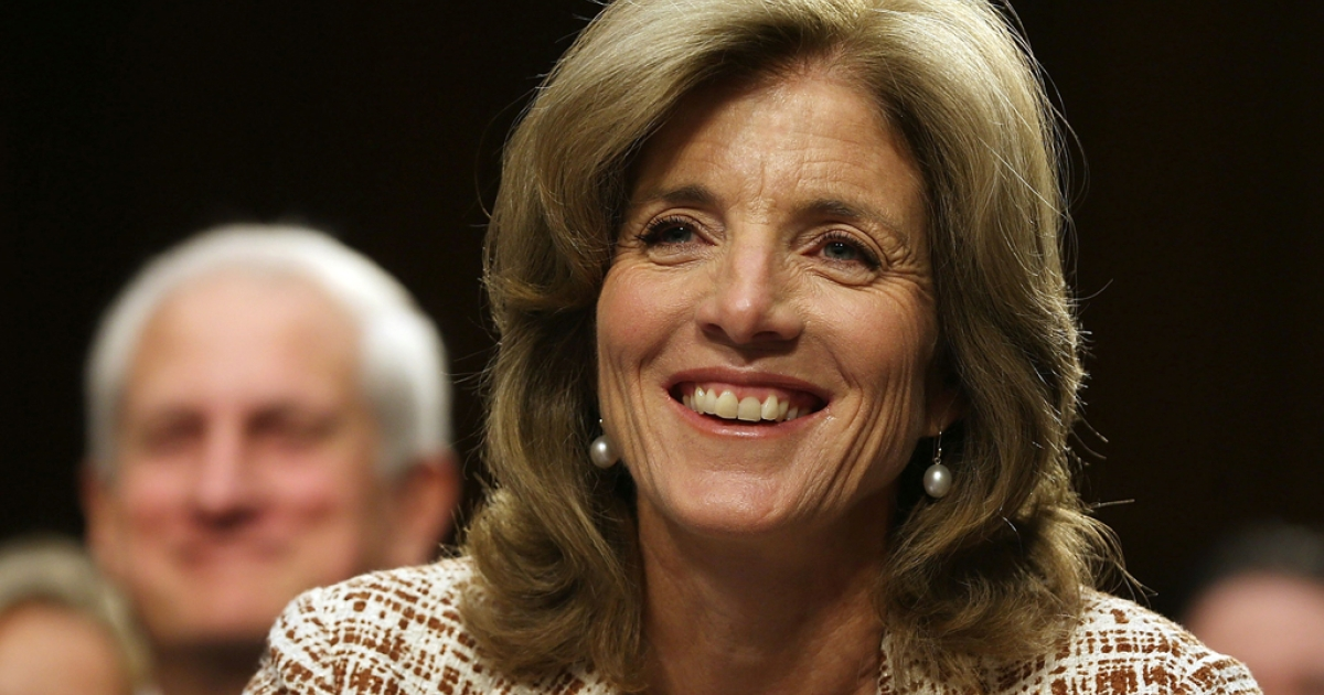 Caroline Kennedy smiles during her Senate Foreign Relations Committee confirmation hearing on Capitol Hill in Washington, DC. Kennedy became the first female U.S. Ambassador to Japan on Nov. 12, 2013.</p>