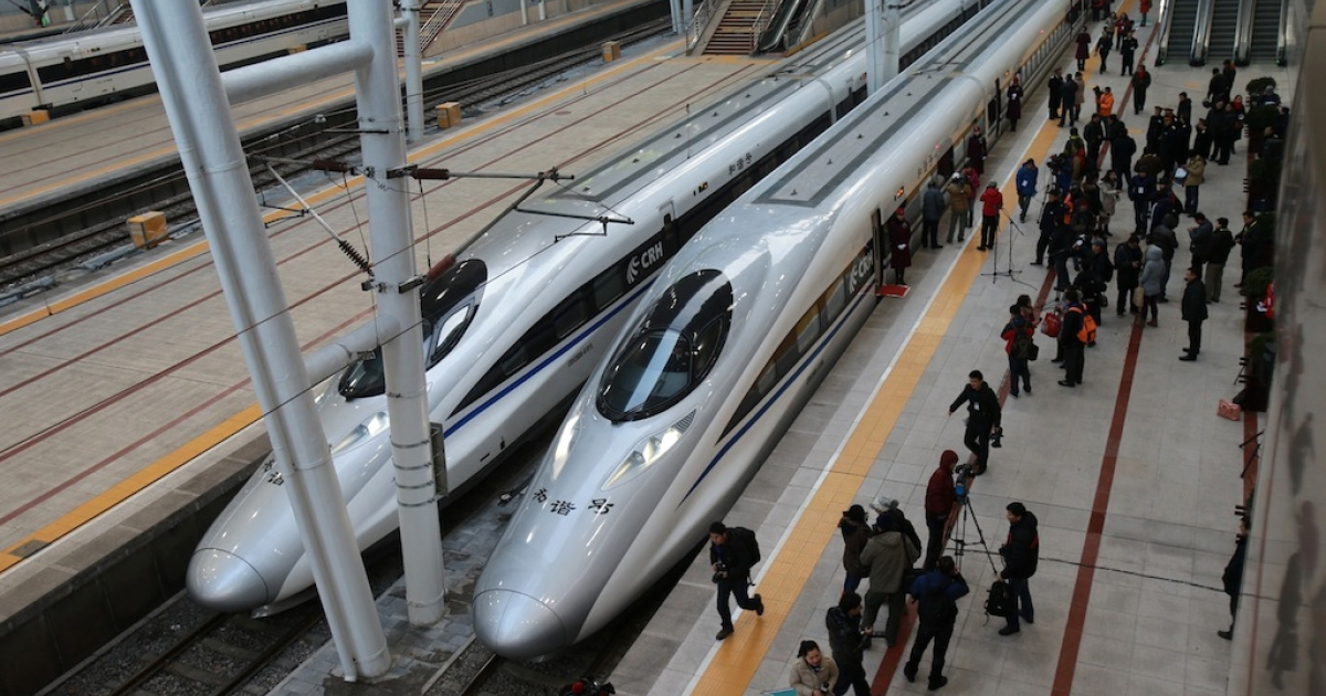 The 1,425-mile line between Beijing and Guangzhou, which started on Dec. 26 2012, is the world's longest high-speed rail route. To continue its economic miracle, Chinese leaders have indicated that they will rely increasingly on markets.</p>
