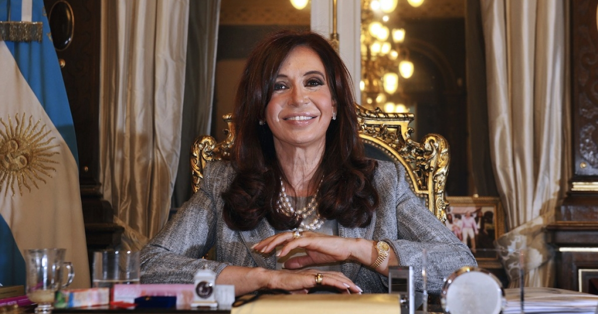 Argentina's President Cristina Fernandez during on Sept. 29, 2010, at the government house in Buenos Aires.</p>