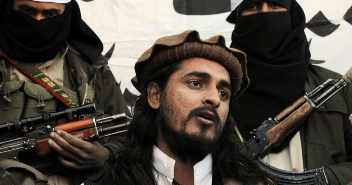 Pakistani Taliban commander Hakimullah Mehsud in a photo taken on November 26, 2008.</p>