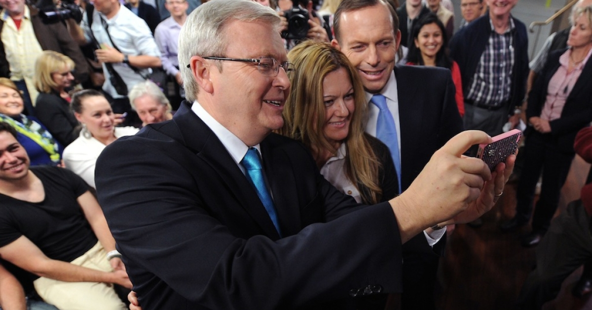 Former Australian Prime Minister Kevin Rudd takes a