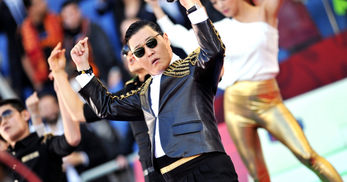 Psy performs 'Gangnam Style.'</p>