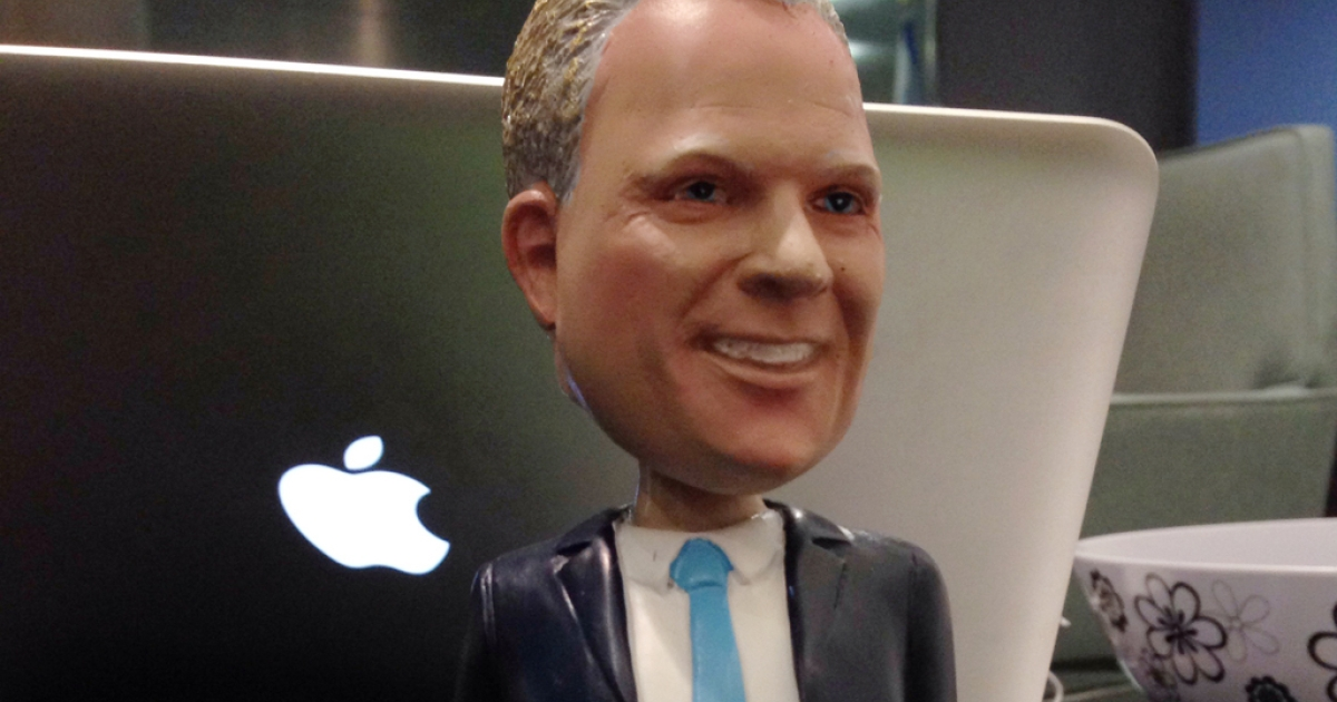 Torontonians lined up at Toronto City Hall on Tuesday for a chance to buy one of these limited edition Mayor Rob Ford bobbleheads.</p>
