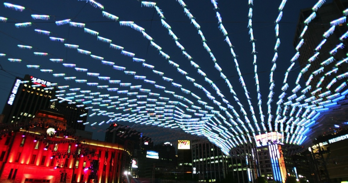 The Hi Seoul Festival, in Seoul, South Korea, draws throngs from around the world, in May 2008. Seoul is increasingly eclipsing Tokyo as the city of the future.</p>
