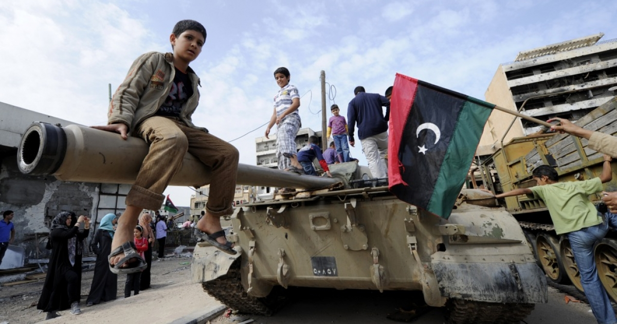 What has changed for LIbyans since they first celebrated the overthrow of Muammar Gaddafi on Oct. 23, 2011?</p>