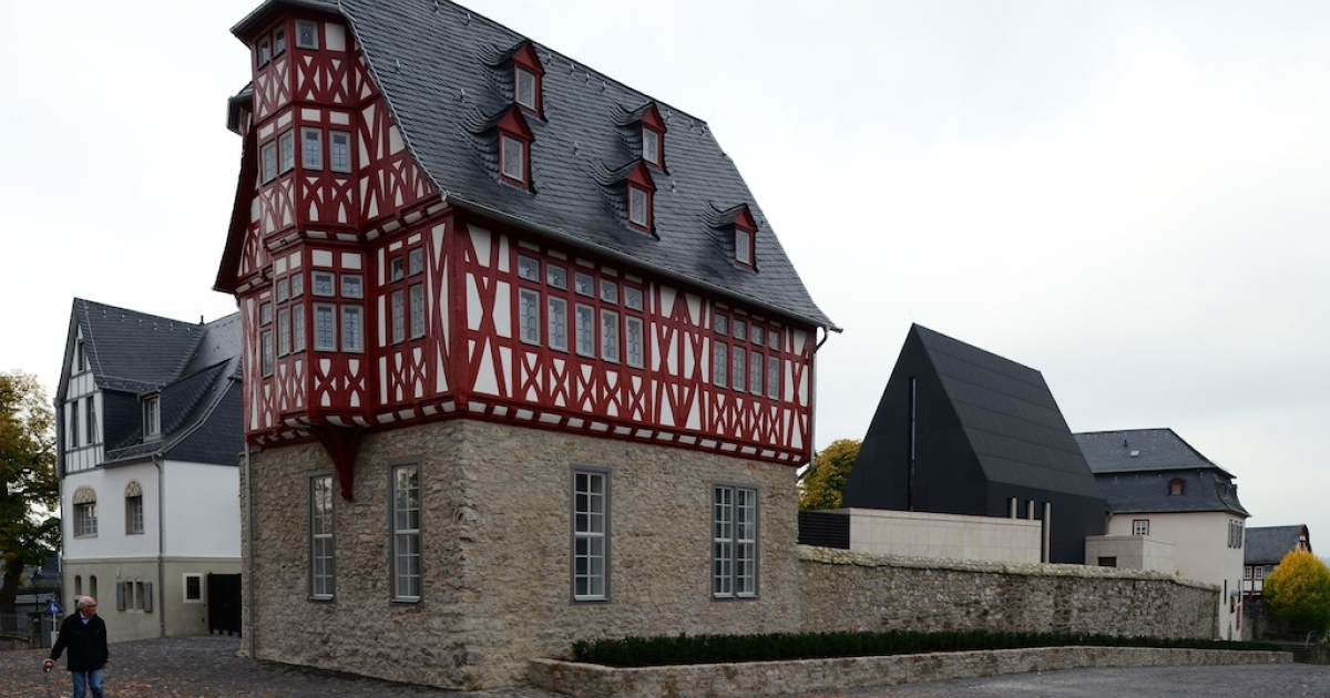 The bling bishop's residence pictured on October 13, 2013 in Limburg, Germany.</p>
