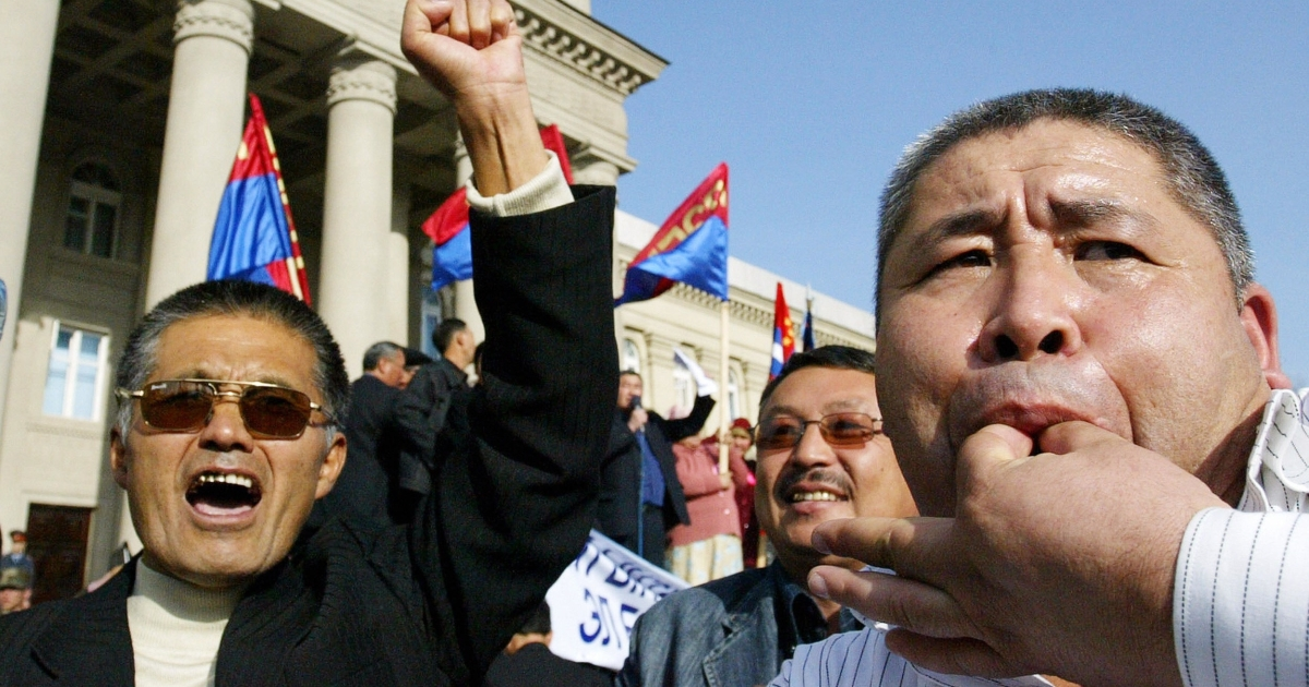 People in Kyrgyzstan aren't afraid to make their views known.</p>